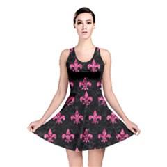 RYL1 BK-PK MARBLE (R) Reversible Skater Dress