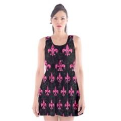 RYL1 BK-PK MARBLE (R) Scoop Neck Skater Dress