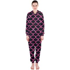 SCA1 BK-PK MARBLE Hooded Jumpsuit (Ladies)