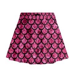 SCA1 BK-PK MARBLE (R) Mini Flare Skirt