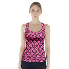 SCA1 BK-PK MARBLE (R) Racer Back Sports Top