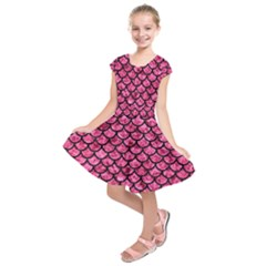 SCA1 BK-PK MARBLE (R) Kids  Short Sleeve Dress