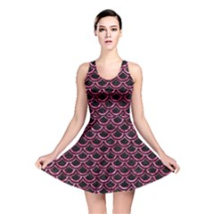 SCA2 BK-PK MARBLE Reversible Skater Dress