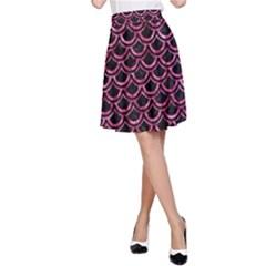 SCA2 BK-PK MARBLE A-Line Skirt
