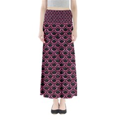Scales2 Black Marble & Pink Marble Full Length Maxi Skirt