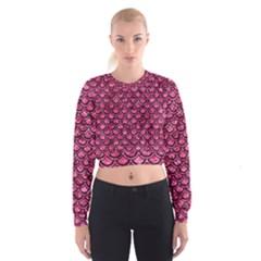 SCA2 BK-PK MARBLE (R) Women s Cropped Sweatshirt
