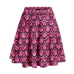 SCA2 BK-PK MARBLE (R) High Waist Skirt