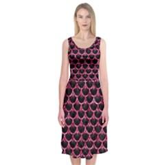 SCA3 BK-PK MARBLE Midi Sleeveless Dress