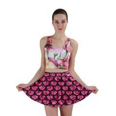 SCA3 BK-PK MARBLE (R) Mini Skirt