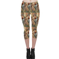 Autumn By Alfons Mucha 1896 Capri Leggings