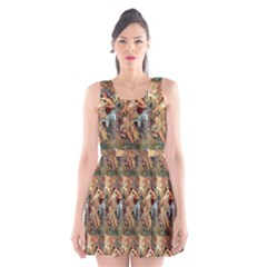 Autumn By Alfons Mucha 1896 Scoop Neck Skater Dress