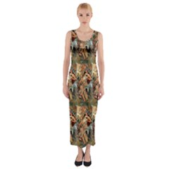 Autumn By Alfons Mucha 1896 Fitted Maxi Dress