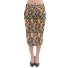 Autumn By Alfons Mucha 1896 Midi Pencil Skirt