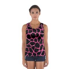 Skin1 Black Marble & Pink Marble (r) Sport Tank Top