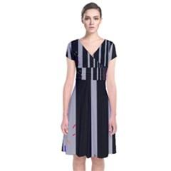 Harmony Short Sleeve Front Wrap Dress