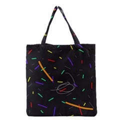 Colorful beauty Grocery Tote Bag