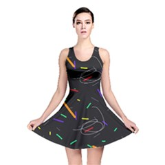 Colorful beauty Reversible Skater Dress