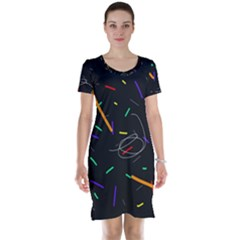 Colorful beauty Short Sleeve Nightdress