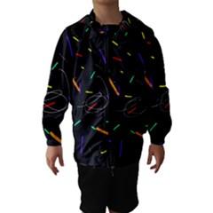 Colorful beauty Hooded Wind Breaker (Kids)