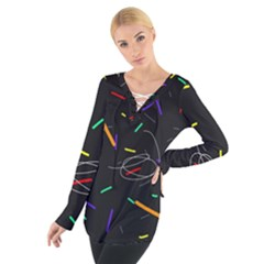 Colorful beauty Women s Tie Up Tee