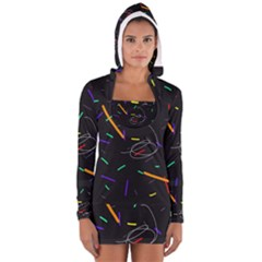 Colorful beauty Women s Long Sleeve Hooded T-shirt