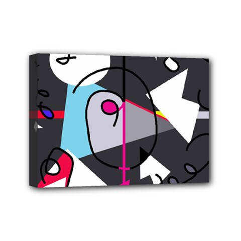 Abstract bird Mini Canvas 7  x 5