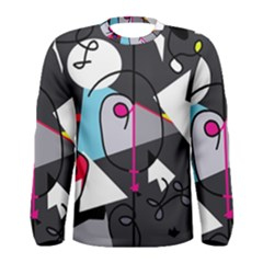 Abstract bird Men s Long Sleeve Tee