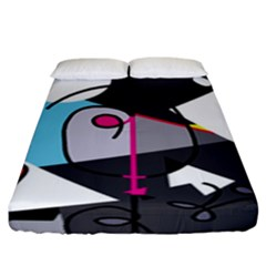 Abstract Bird Fitted Sheet (king Size)