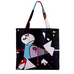 Abstract bird Zipper Grocery Tote Bag