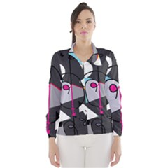 Abstract bird Wind Breaker (Women)