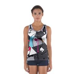 Abstract bird Women s Sport Tank Top