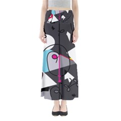 Abstract Bird Maxi Skirts