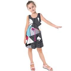 Abstract Bird Kids  Sleeveless Dress