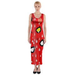 Rainy day - red Fitted Maxi Dress