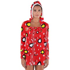 Rainy day - red Women s Long Sleeve Hooded T-shirt