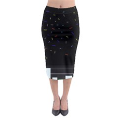 Night Midi Pencil Skirt