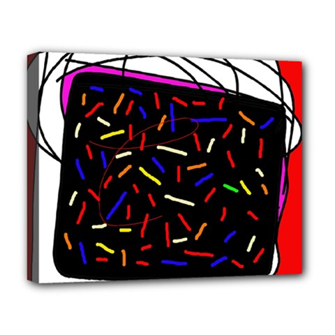 Color TV Deluxe Canvas 20  x 16