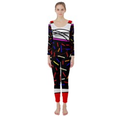Color TV Long Sleeve Catsuit