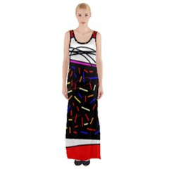 Color TV Maxi Thigh Split Dress