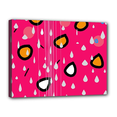 Rainy day - pink Canvas 16  x 12