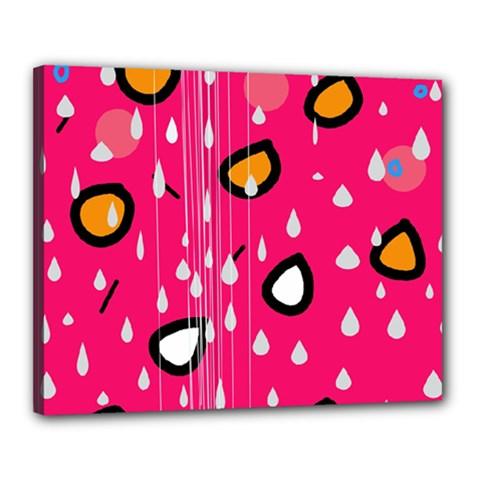 Rainy day - pink Canvas 20  x 16
