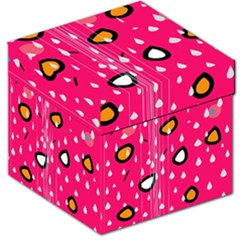 Rainy day - pink Storage Stool 12