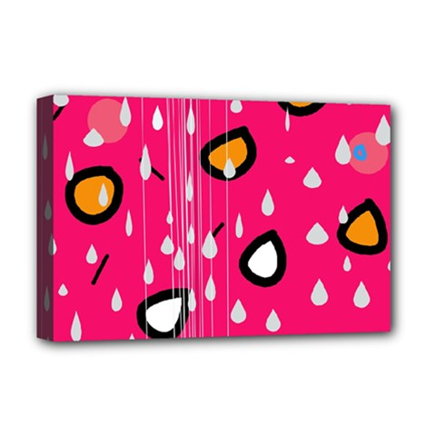 Rainy day - pink Deluxe Canvas 18  x 12