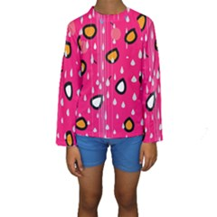 Rainy day - pink Kids  Long Sleeve Swimwear