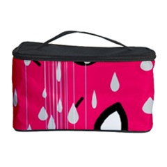 Rainy day - pink Cosmetic Storage Case