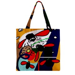 Fly, fly Zipper Grocery Tote Bag
