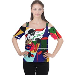 Fly, fly Women s Cutout Shoulder Tee