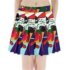 Fly, fly Pleated Mini Skirt