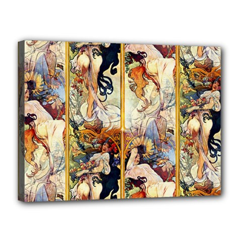 Alfons Mucha 1895 The Four Seasons Canvas 16  x 12