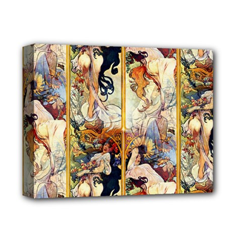 Alfons Mucha 1895 The Four Seasons Deluxe Canvas 14  x 11